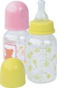 Курносики бутылочка пластиковая с силиконовой соской 125мл 0+, арт. 11001