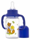 Курносики бутылочка ПП с ручками и силиконовой соской Колобок 125мл 6мес+, арт. 11140