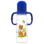 Курносики бутылочка ПП с ручками и силиконовой соской Колобок 250мл 6мес+, арт. 11139