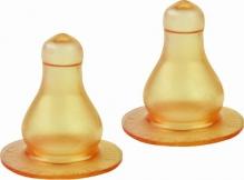 Курносики соска латексная большая со средним отверстием 2шт 6мес+, арт. 12124