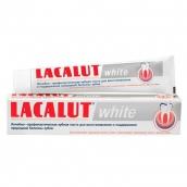 Лакалют паста зубная white 75мл