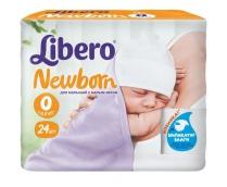 Либеро подгузники Newborn до 2,5кг 24шт