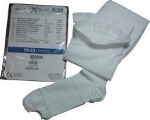 Релаксан чулки антиэмболические на резинке с открытым носком 1 класс компрессии р.3 (L) белый